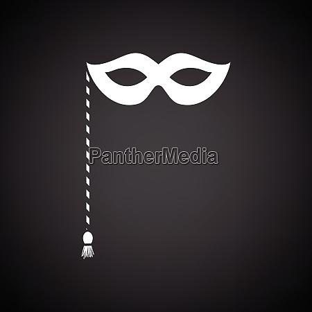 party carnival mask icon black background