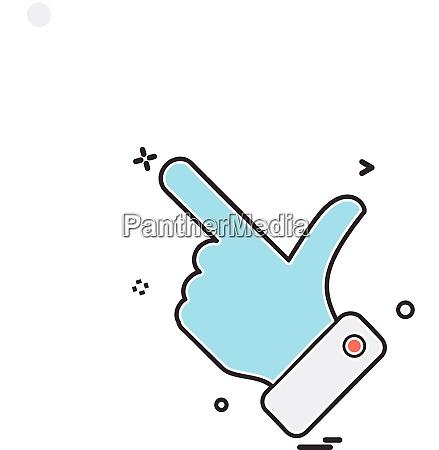 hand choose click icon vector design