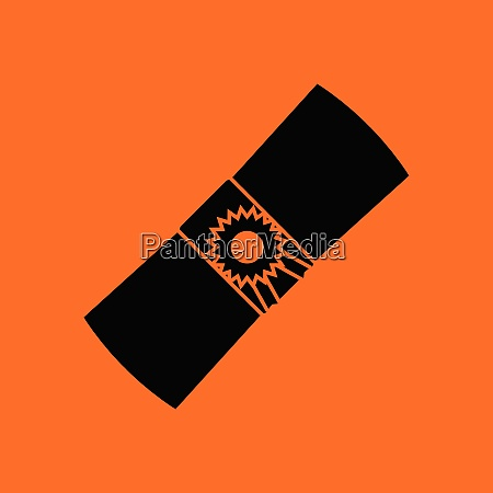 diploma icon orange background with black