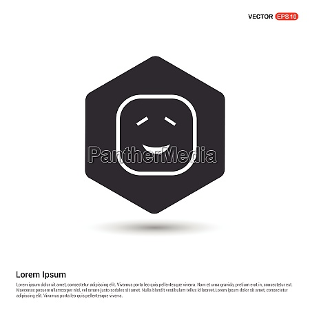 smiley icon face icon hexa white