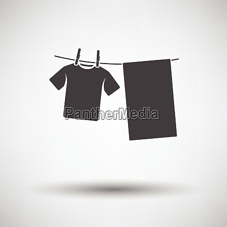 drying linen icon on gray background