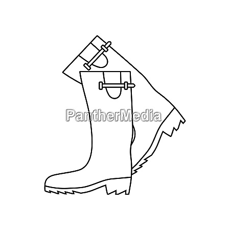 icon of hunterrsquos rubber boots thin