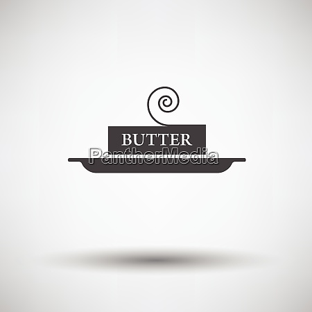 butter icon on gray background round