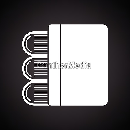 stack of books icon black background