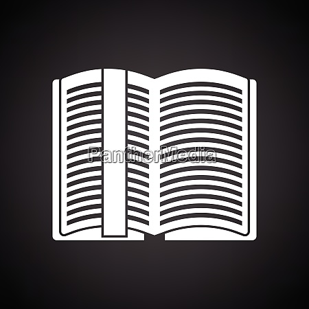 open book with bookmark icon black