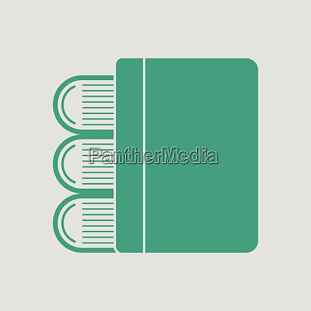 stack of books icon gray background