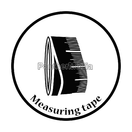 tailor measure tape icon thin circle