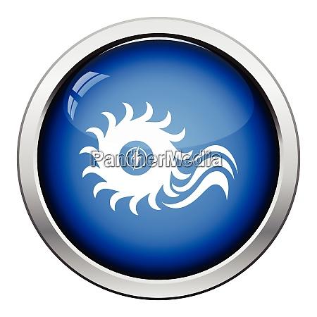 water turbine icon glossy button design