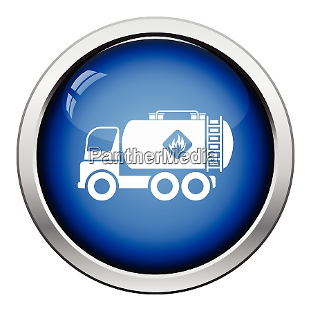 fuel tank truck icon glossy button