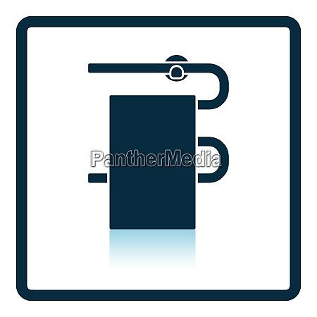 heated towel rail icon shadow reflection