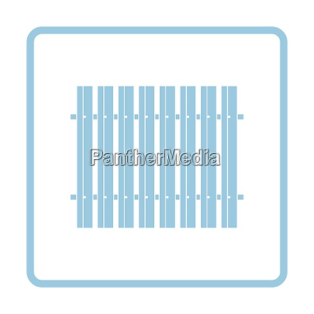icon of construction fence blue
