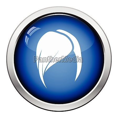 ladyrsquos hairstyle icon glossy button design