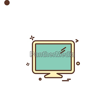 lcd screen icon vector design