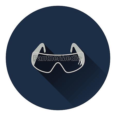 icon of chemistry protective eyewear flat