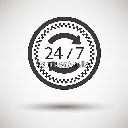 24 hour taxi service icon on