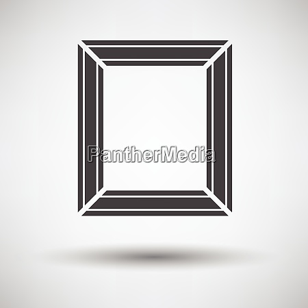 picture frame icon on gray background