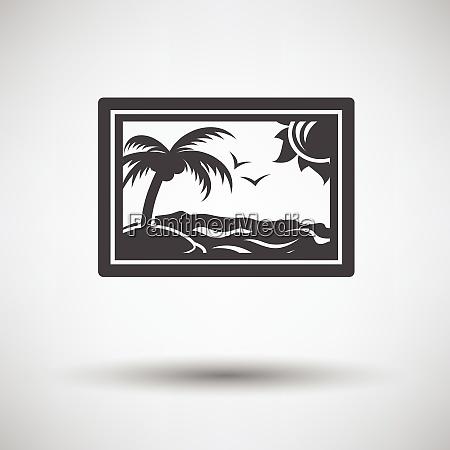 landscape art icon on gray background