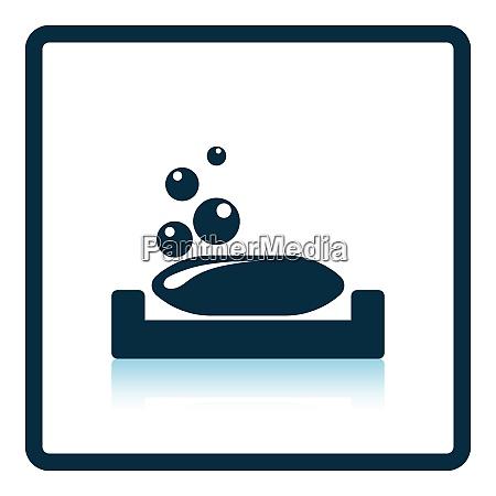 soap dish icon shadow reflection design
