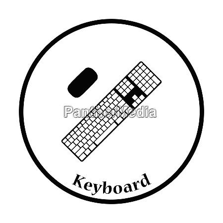 keyboard icon flat color design vector