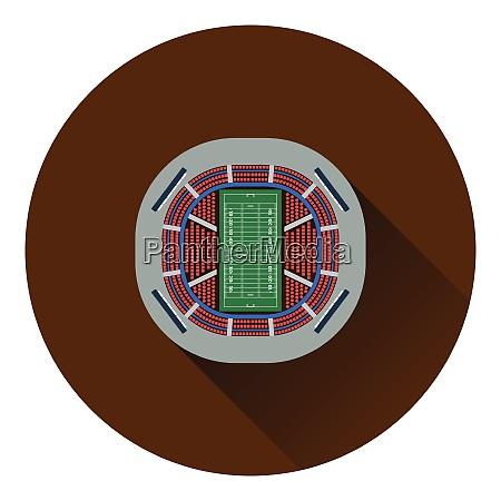 american football stadium birdrsquos eye view