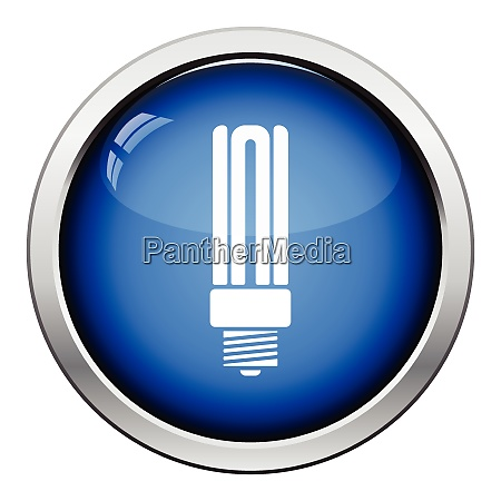 energy saving light bulb icon glossy