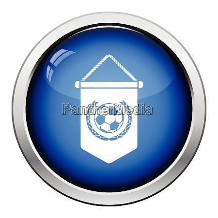 football pennant icon glossy button design