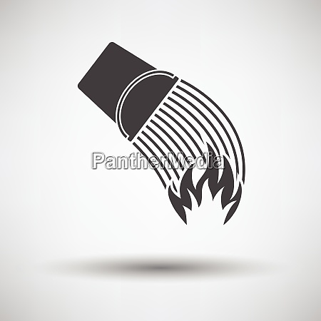 fire bucket icon on gray background