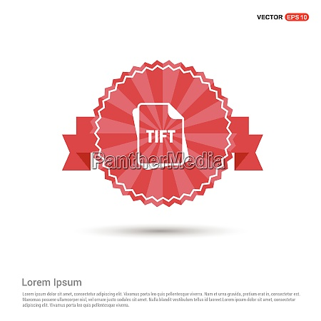 file type icons red ribbon