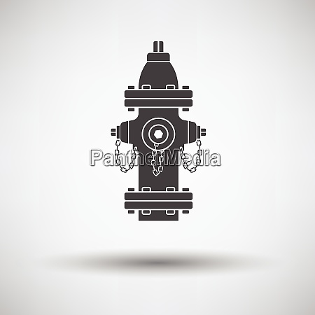 fire hydrant icon on gray background