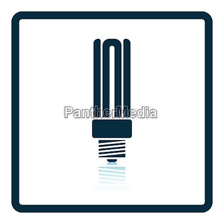 energy saving light bulb icon shadow