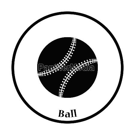 baseball ball icon thin circle design
