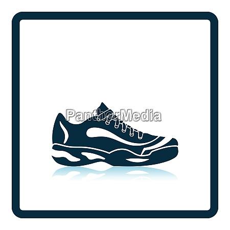 tennis sneaker icon shadow reflection design