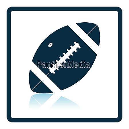 american football ball icon shadow reflection