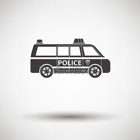 police, van, icon, on, gray, background - 26236710