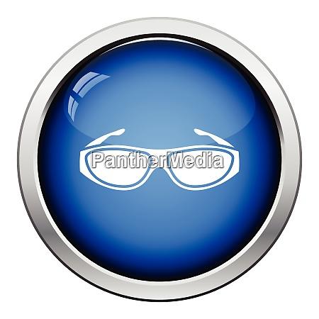 poker sunglasses icon glossy button design