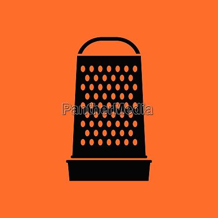 kitchen grater icon orange background with
