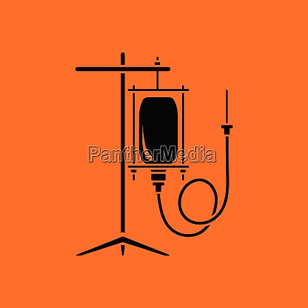 drop counter icon orange background with