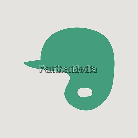 baseball helmet icon gray background with