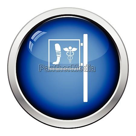 vet clinic icon glossy button design