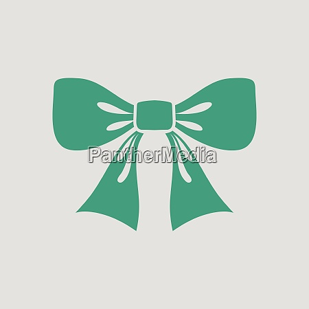 party bow icon gray background with