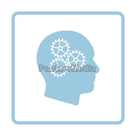 brainstorm icon blue frame design