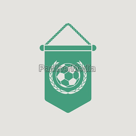 football pennant icon gray background with