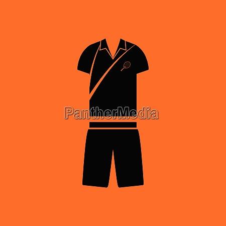tennis man uniform icon orange background
