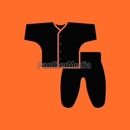 baby, wear, icon., orange, background, with - 26238499
