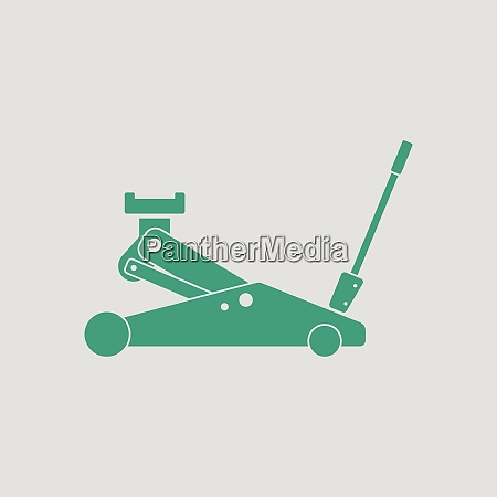 hydraulic jack icon gray background with