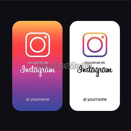 follow me on instagram creative cards