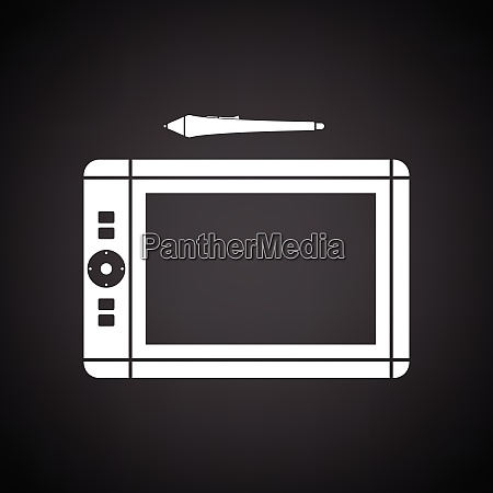 graphic tablet icon black background with