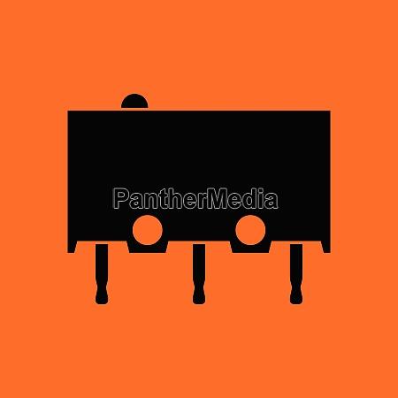 micro button icon icon orange background