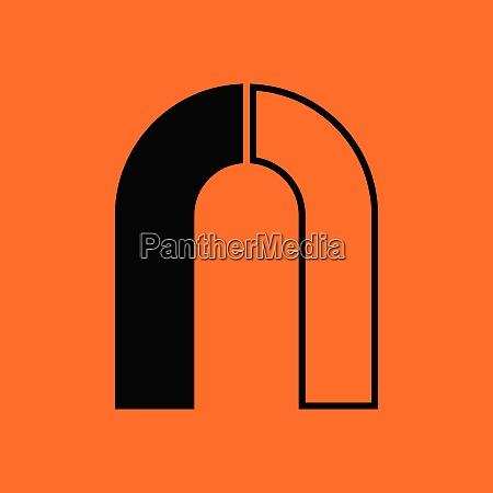 magnet icon orange background with black