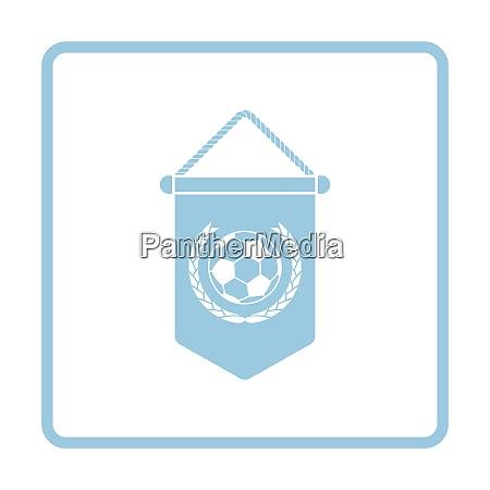 football pennant icon blue frame design